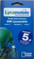 Starter LycaMobile 5 sim/micro/nano PrePaid 5zł