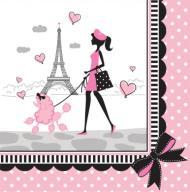 Serwetki papierowe urodziny Paryż 18 szt