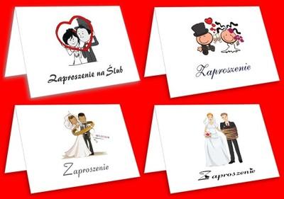 Zaproszenia Na ślub Z Kopertami Zawieszki Winietki 6642805280