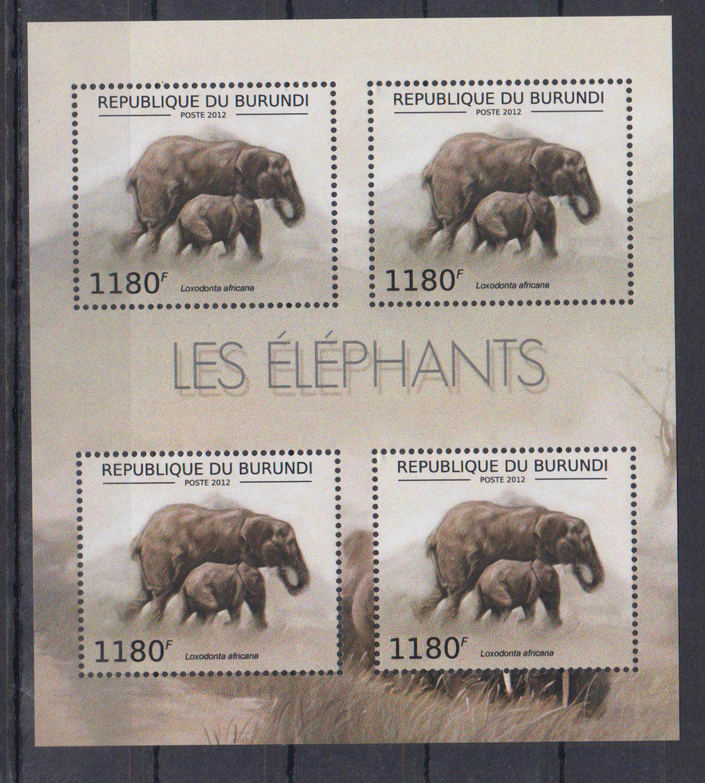 D13. MNH Burundi Słonie
