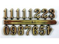 Cyfry arabskie złote 12 mm do zegara
