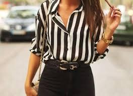 Blogerska koszula czarno biała w paski 36 38 6693758244  WBPWL