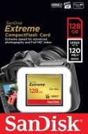 SANDISK 128 GB Compact Flash EXTREME CF 120/85MB/s
