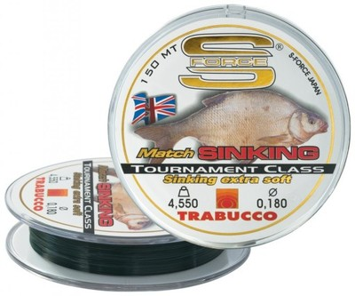 Trabucco S-Force Match Sinking żyłka 150m 0,14mm