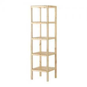 Ikea Molger Regał Do łazienki Brzoza 37x37x140 Cm
