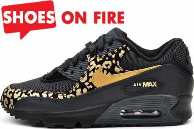 30% Nike Air Max 90 023 Złota Panterka Czarne 38