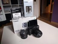 Canon eos m3 + ef-m 11-22 + org adapter EF + 64 GB