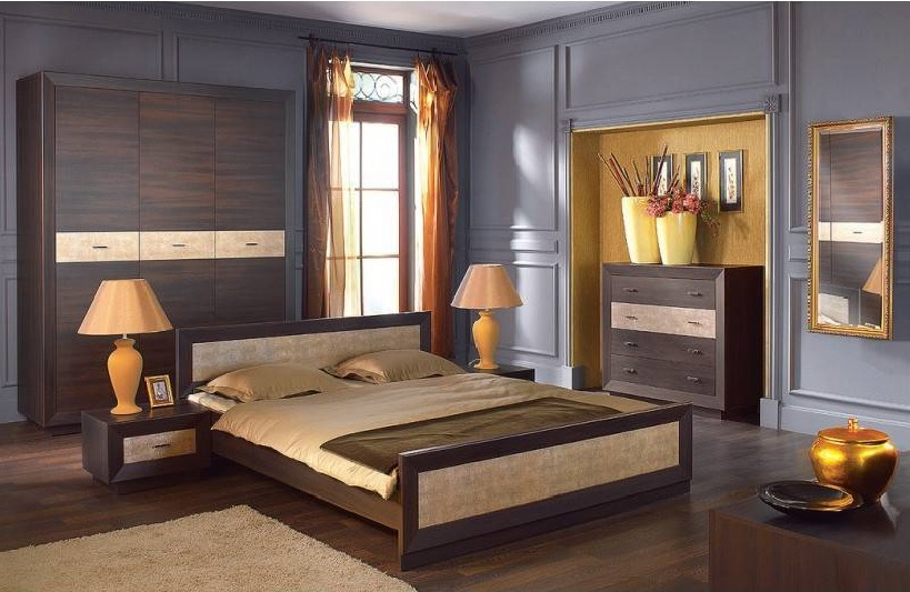 Sypialnia Brw Largo Zestaw Mebli łóżko Szafa Komod
