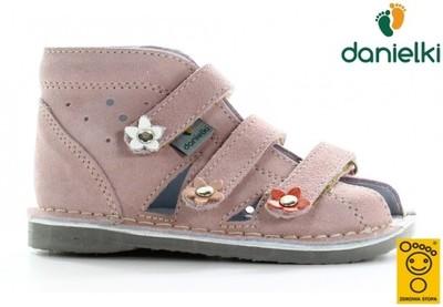 Kapcie DANIELKI buty profilaktyczne s124 róż, 24