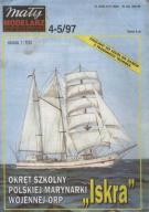 MAŁY MODELARZ 4-5/97 Okręt Szkolny ISKRA /1679A/