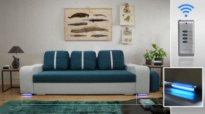 Kanapa Sofa Wersalka Do Salonu Oświetlenie Led 6110360515