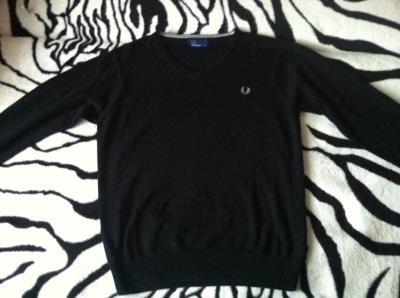 Sweter Fred Perry czarny stan bdb
