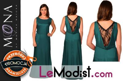 febbbf8997 MONA 192 Piękna butelkowa zieleń SUKNIA 46 - 5093178422 - oficjalne ...