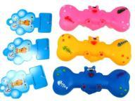 Zabawka piszcząca dla psa Gryzak Kość Gumowa