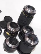 obiektywy dla Minolta MD 4 sztuki + 1 konwerter