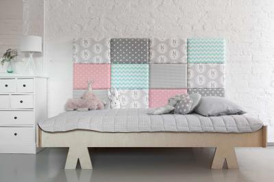 Zagłówek Modułowy Do łóżka Miękkie Panele ścienne