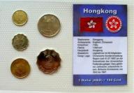 HONG KONG ZESTAW MENNICZY MONET OBIEGOWYCH