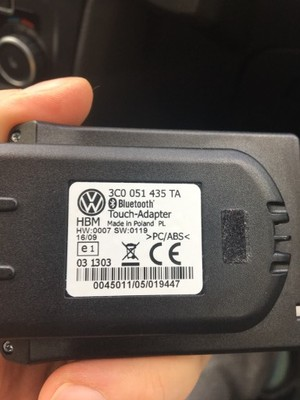 vw bluetooth adapter touch dotyk 3c0051435ta 6737280159. Black Bedroom Furniture Sets. Home Design Ideas