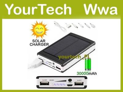 Ładowarka Solarna Power Bank 30000mAh PowerBank Ww