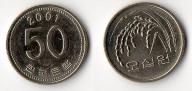 KOREA POŁUDNIOWA 2001 50 WON