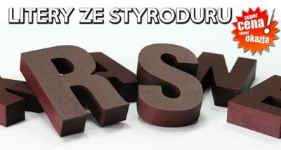 STYRODUR CYFRY LITERA LITERY 3D PRZESTRZENNE 20cm