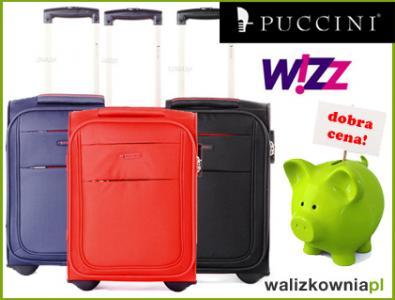 6b71ebfe94589 PUCCINI EM50307 walizka podręczna 42x32x25 WIZZAIR - 5411887669 ...