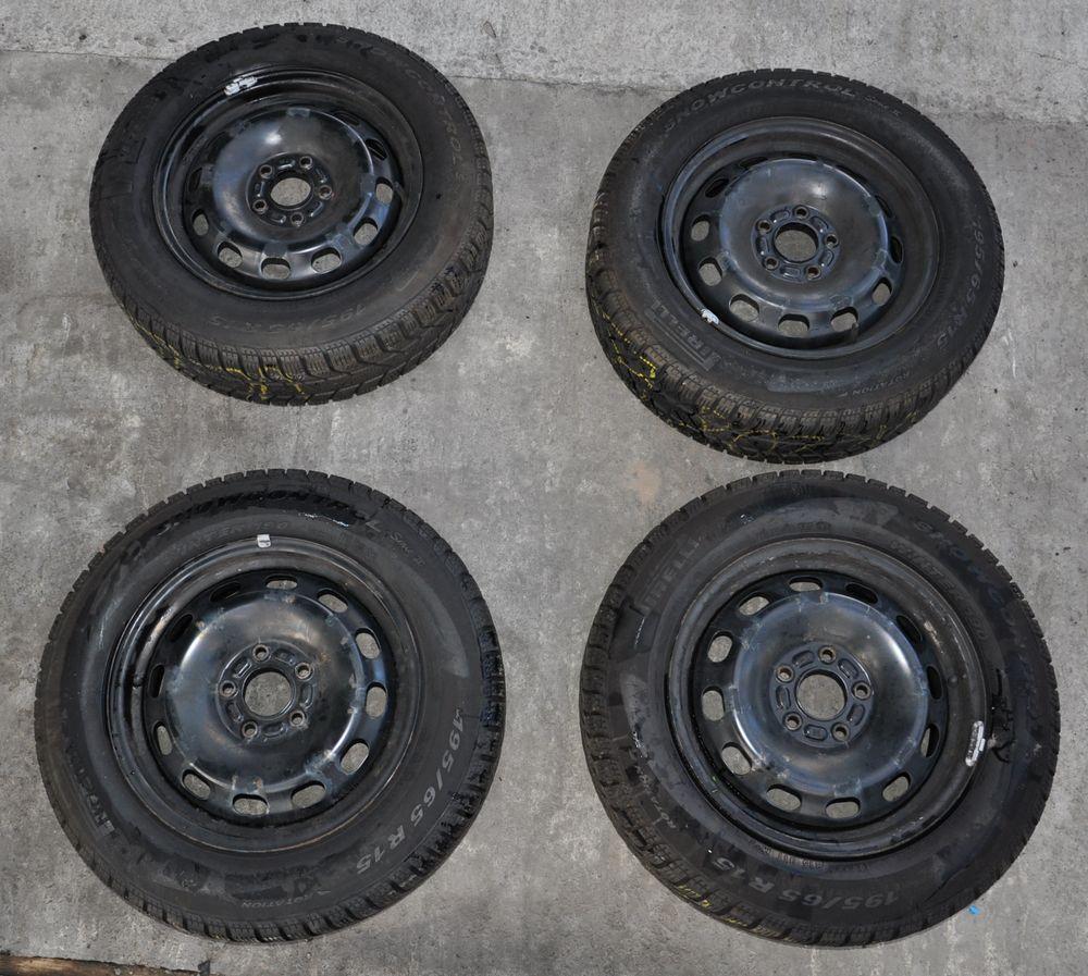 Felgi Stalowe 5x108 15 Cali Opony Zimowe 195x65 7022882446