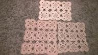 serwetka 3 szt masywna bawełna szydełko hand made