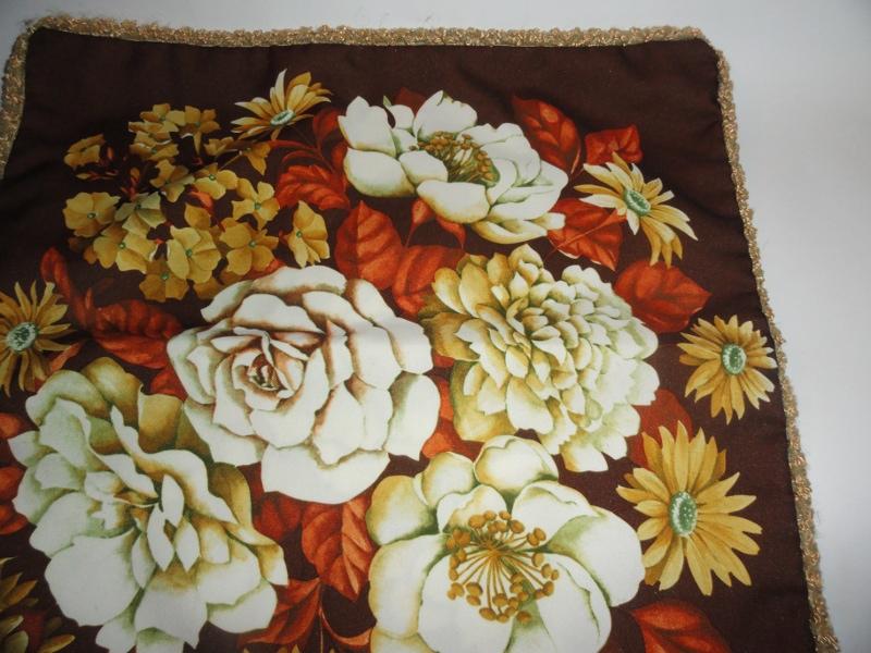 Poszewka powłoczka poduszka jasiek kwiaty 46,5 cm
