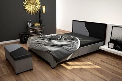 Nowoczesne łóżko Tapicerowane 140x200 Meble Focus 6882676756