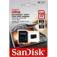 microSDXC 128 GB ULTRA 80 MB/s+ADAP.SD