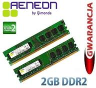 2GB DDR2 AENEON (2x1GB) 800MHz CL5 / GWAR 12mies