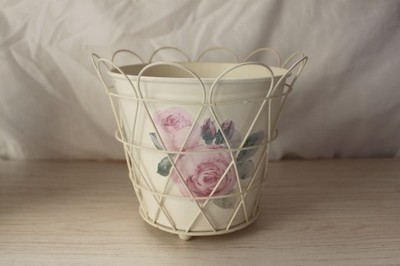 Osłonki Na Doniczki Ikea Róże Vintage Tanio 6899904180