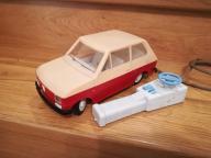 Zabawka PRL Fiat 126 na kabel SINOL Oleśnica CZZ