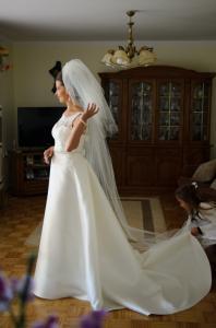 222c515448 Suknia ślubna wzorowana na Aire Barcelona Oropel - 5127689883 ...