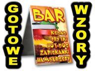 POTYKACZ 125x75 BAR GASTRONOMIA hamburgery lada
