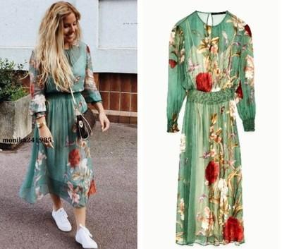 Luksusowa Sukienka w Kwiaty r. XS ZARA