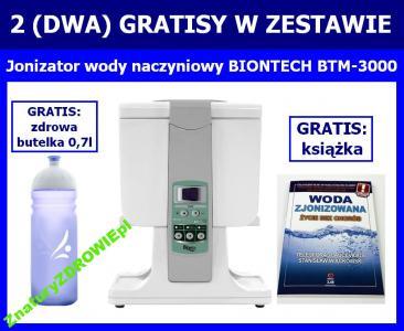 JONIZATOR wody BIONTECH BTM-3000 + 2 GRATISY promo