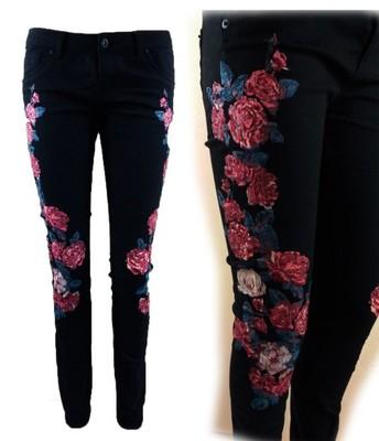 TALLY WEIJL spodnie HAFTY kwiaty HIT 38