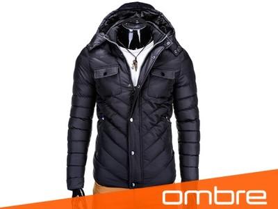 Hit zimowa kurtka męska OMBRE C227 czarny XL