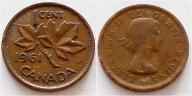 Kanada 1 cent 1961r