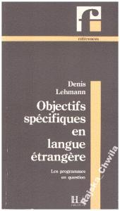 Objectifs specifiques en langue etrangere NOWA!!