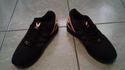 najlepiej autentyczne nowe tanie ekskluzywne buty Adidas ZX FLUX Męskie rozmiar 41 czarno / złote