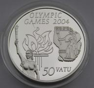 Vanuatu 2003r. 50 vatu - IO Ateny 2004r. (Ag)