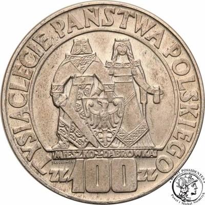 100 złotych 1966 Mieszko i Dąbrówka Millenium st.1