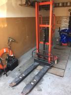 Wózek paletowy masztowy~1000 kg~ 160 cm~ JAK NOWY