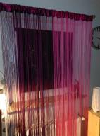 Firanki makarony sznurki 90x200 x 2 sztuki różowe