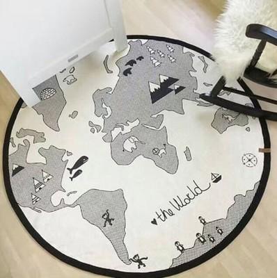 Mata do zabawy dywanik skandynawski mapa świata