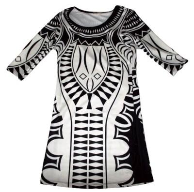 Sukienka W Tatuaże Celtyckie Wzory Biel 6604956513