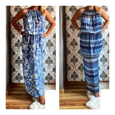 92f2491a2a Sukienka CAPRI maxi letnie długie UNI - 6855986304 - oficjalne ...